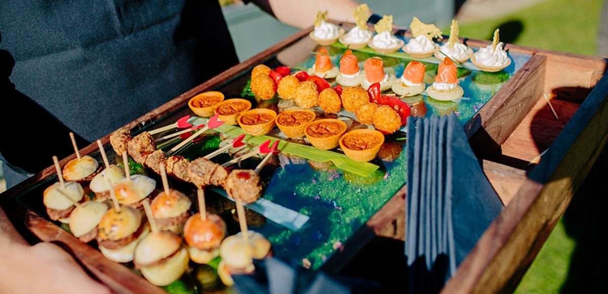 Canapes wedding food from our expert on-site catering team