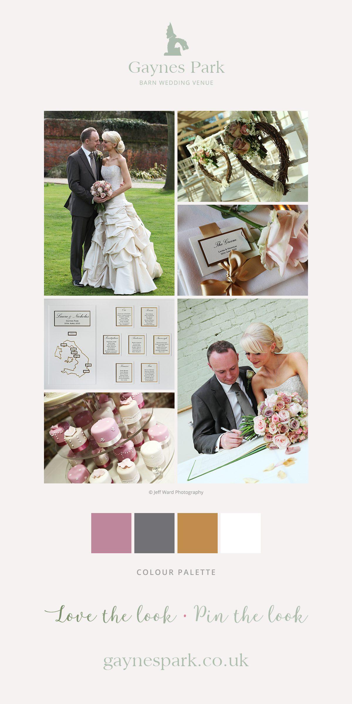 Laura and Nicholas' real life wedding at Gaynes Park