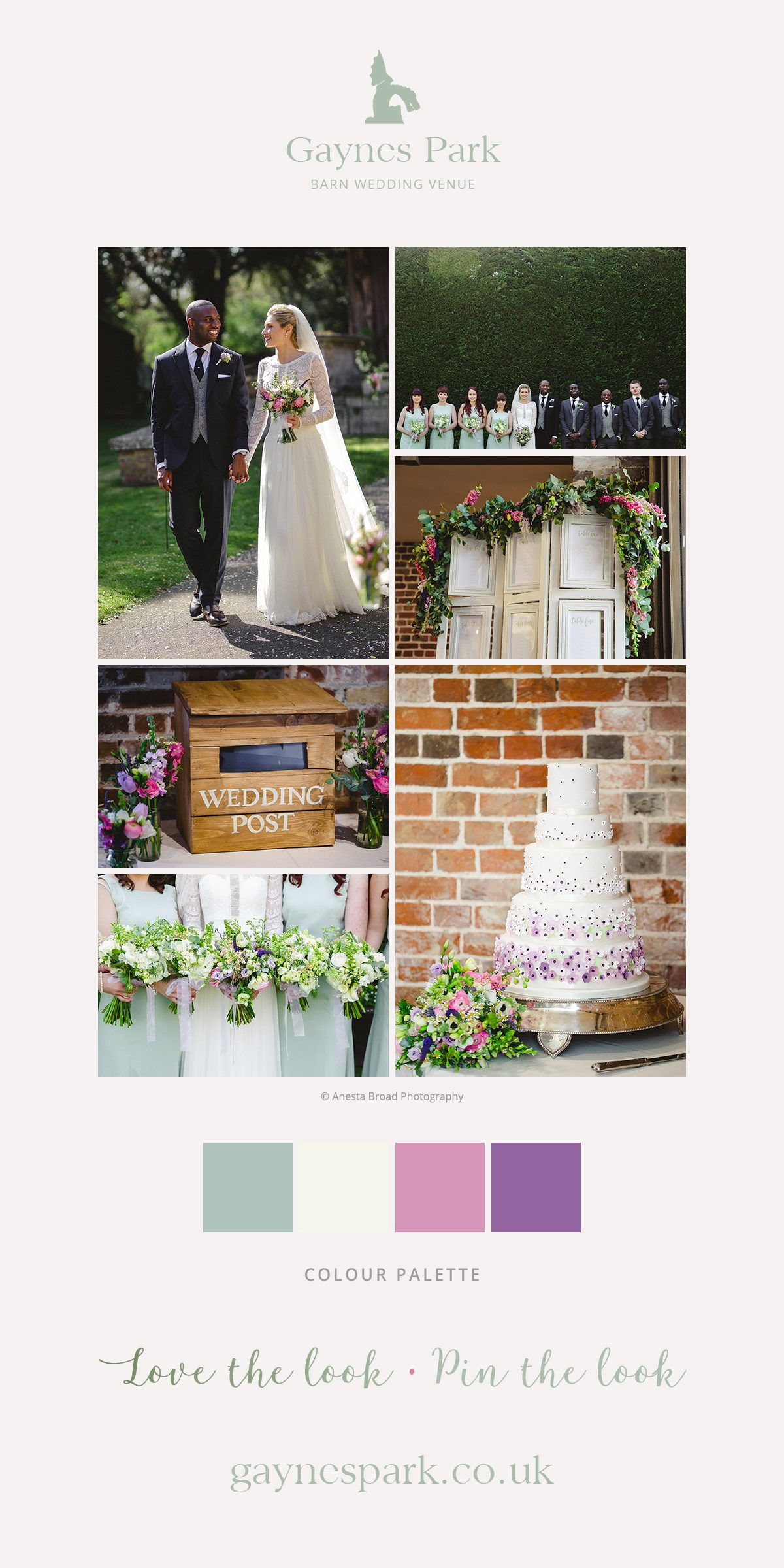 Lucy and Aaron's real life wedding at Gaynes park
