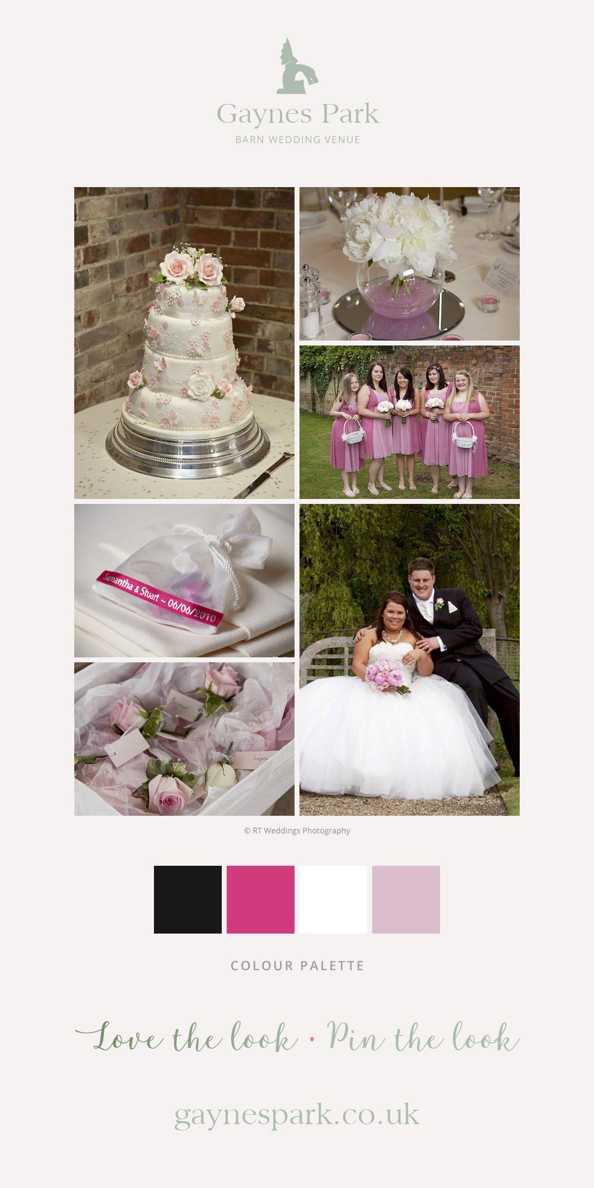Samantha and Stuart's real life wedding at Gaynes Park