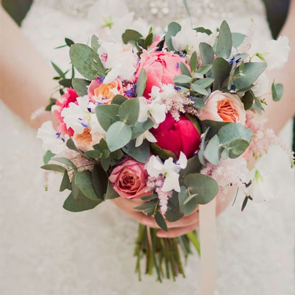 Colourful Spring wedding bouquet for an Essex wedding