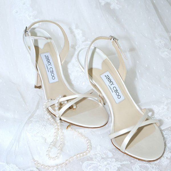 Jimmy Choo wedding shoes for the bride