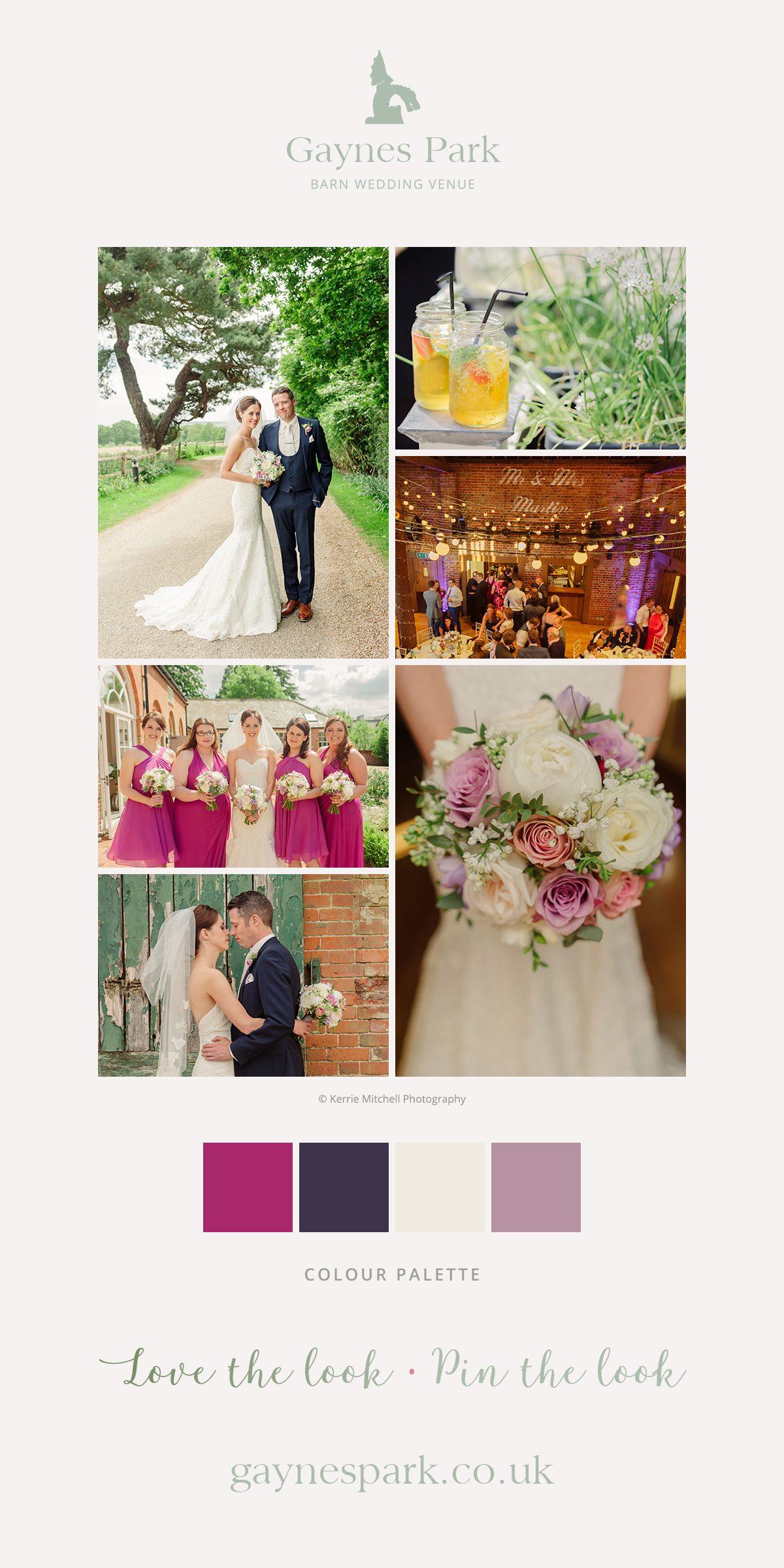 Kay and Lloyd's real life wedding at Gaynes Park