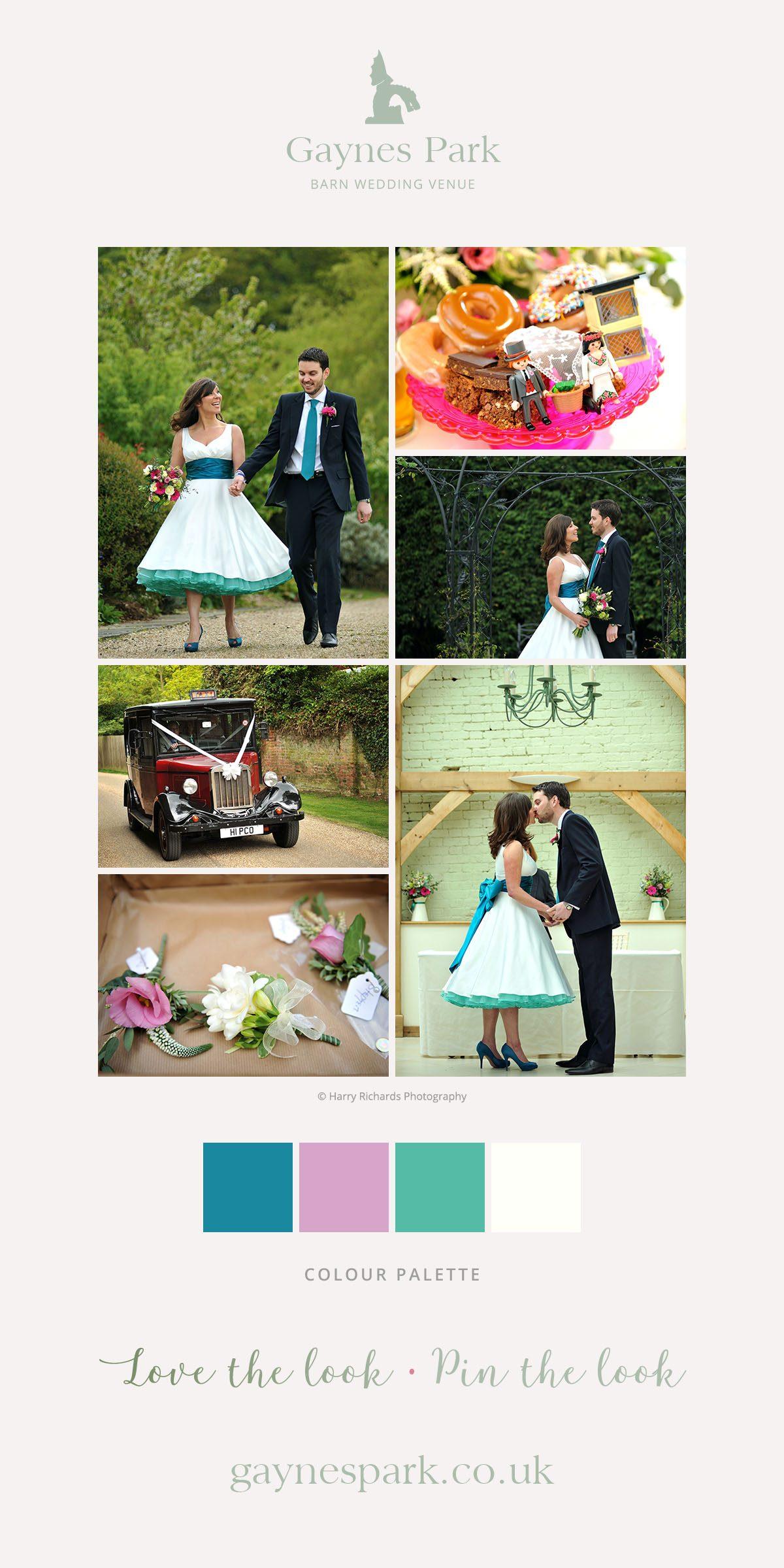 Mitra and Elliott's real life wedding at Gaynes Park