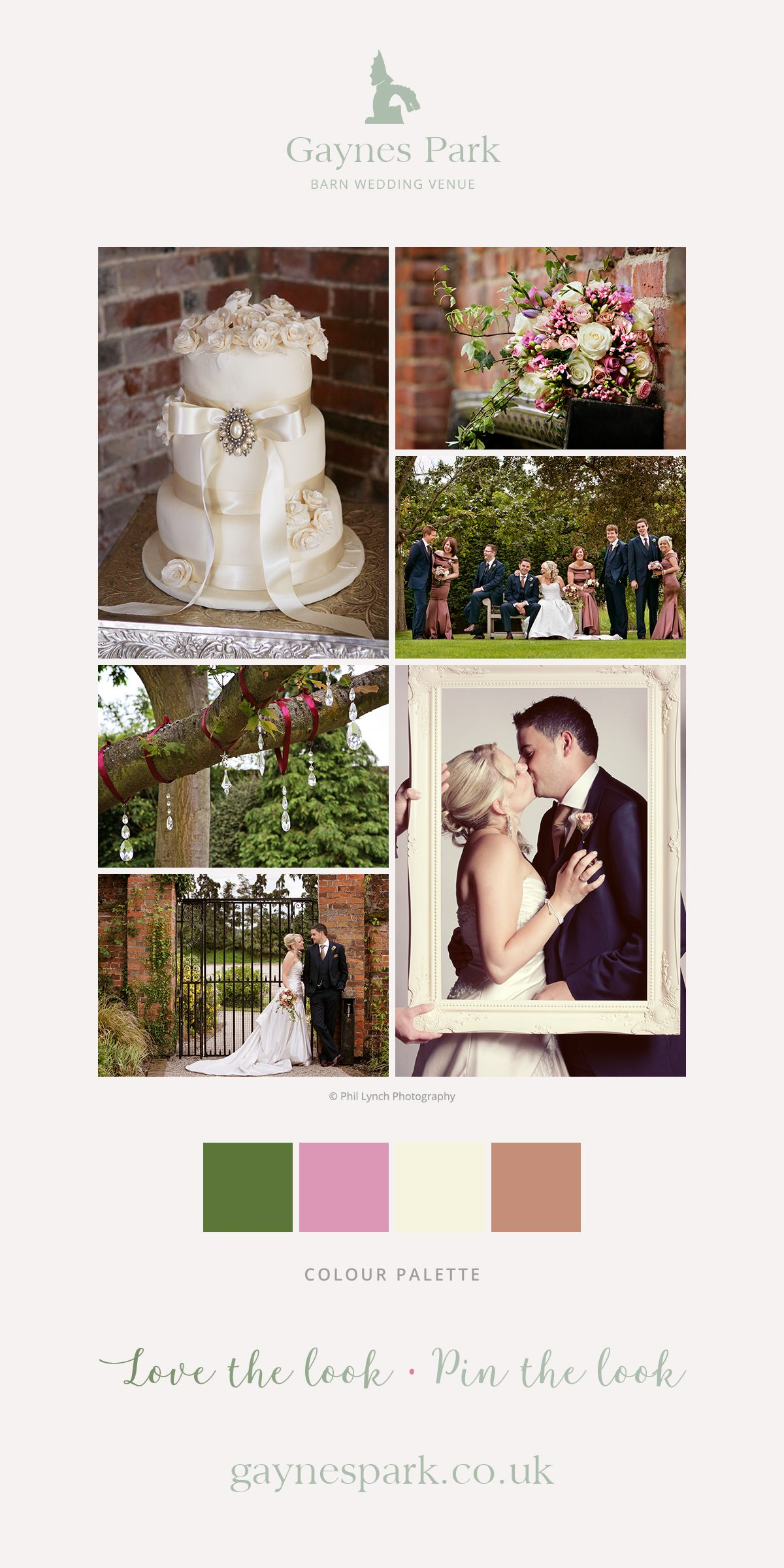 Sallie and Andy's real life wedding at Gaynes Park