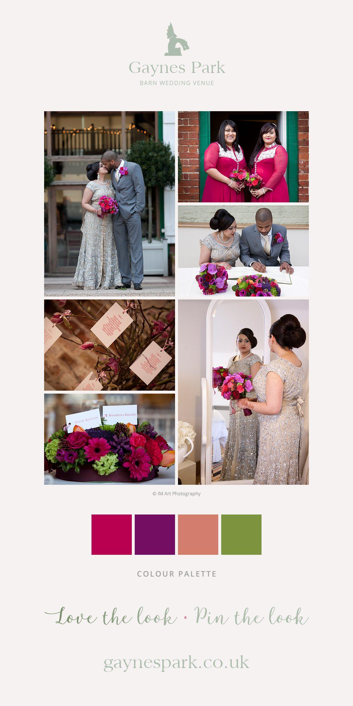 Shaheena and Andre's real life wedding at Gaynes Park