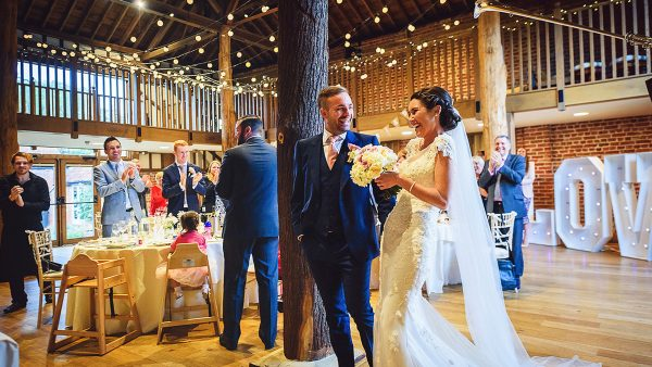 The Mill Barn is the perfect setting for a wedding reception seating 150 guests for your wedding meal