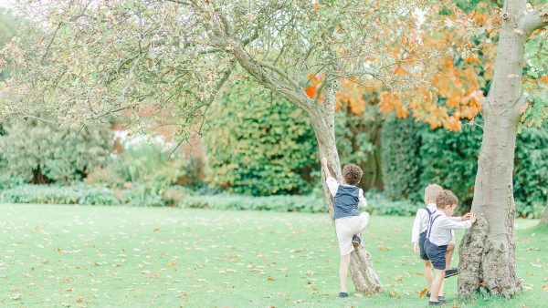 Enjoy the gardens at Gaynes Park with space to play garden games and keep little ones entertained - garden wedding