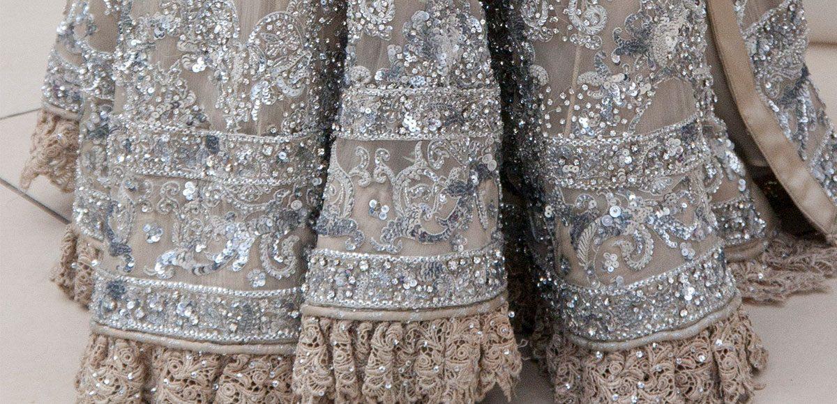 Embellished wedding dress for a Gaynes Park wedding ceremony – wedding barns Essex