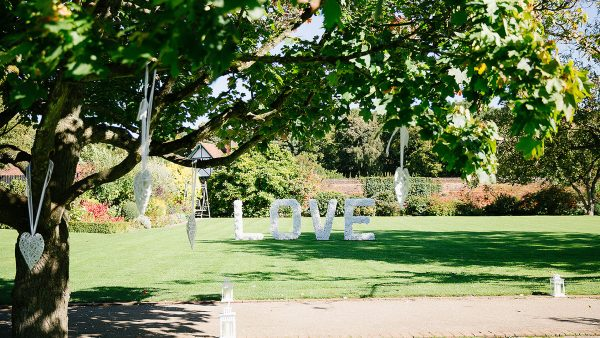 The Walled Garden is perfect for wedding photographs and a wonderful space to decorate - garden wedding ideas