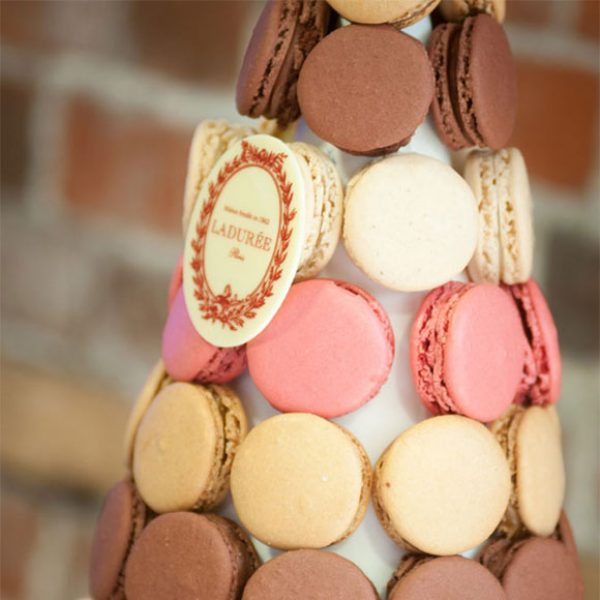 Wedding macaron tower as a wedding favours