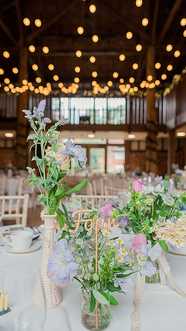 These pretty blue and pink flowers are perfect for a summer wedding - summer wedding ideas
