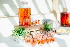 Enjoy summer drinks during your wedding reception at Gaynes Park wedding venue in Essex