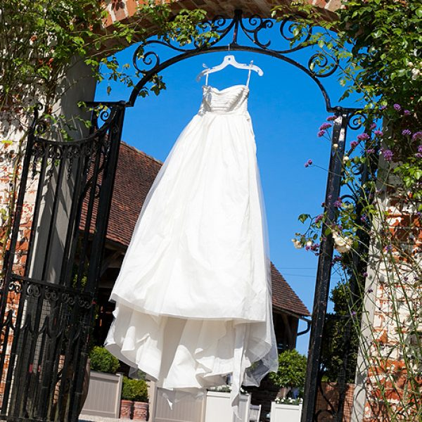 Vera Wang taffeta empire line wedding dress