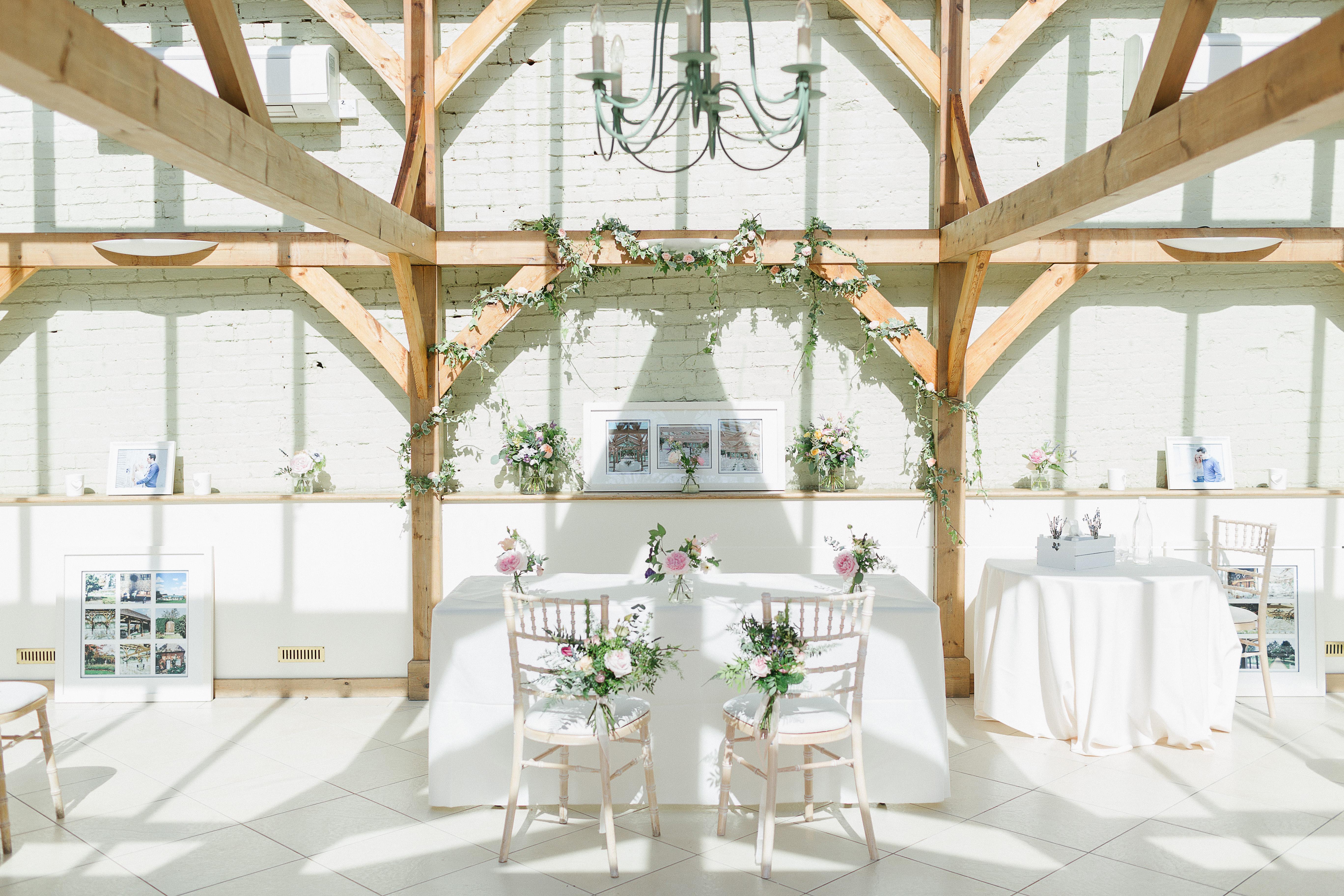 Wedding Ceremony Table White Wedding Decor Gaynes Park
