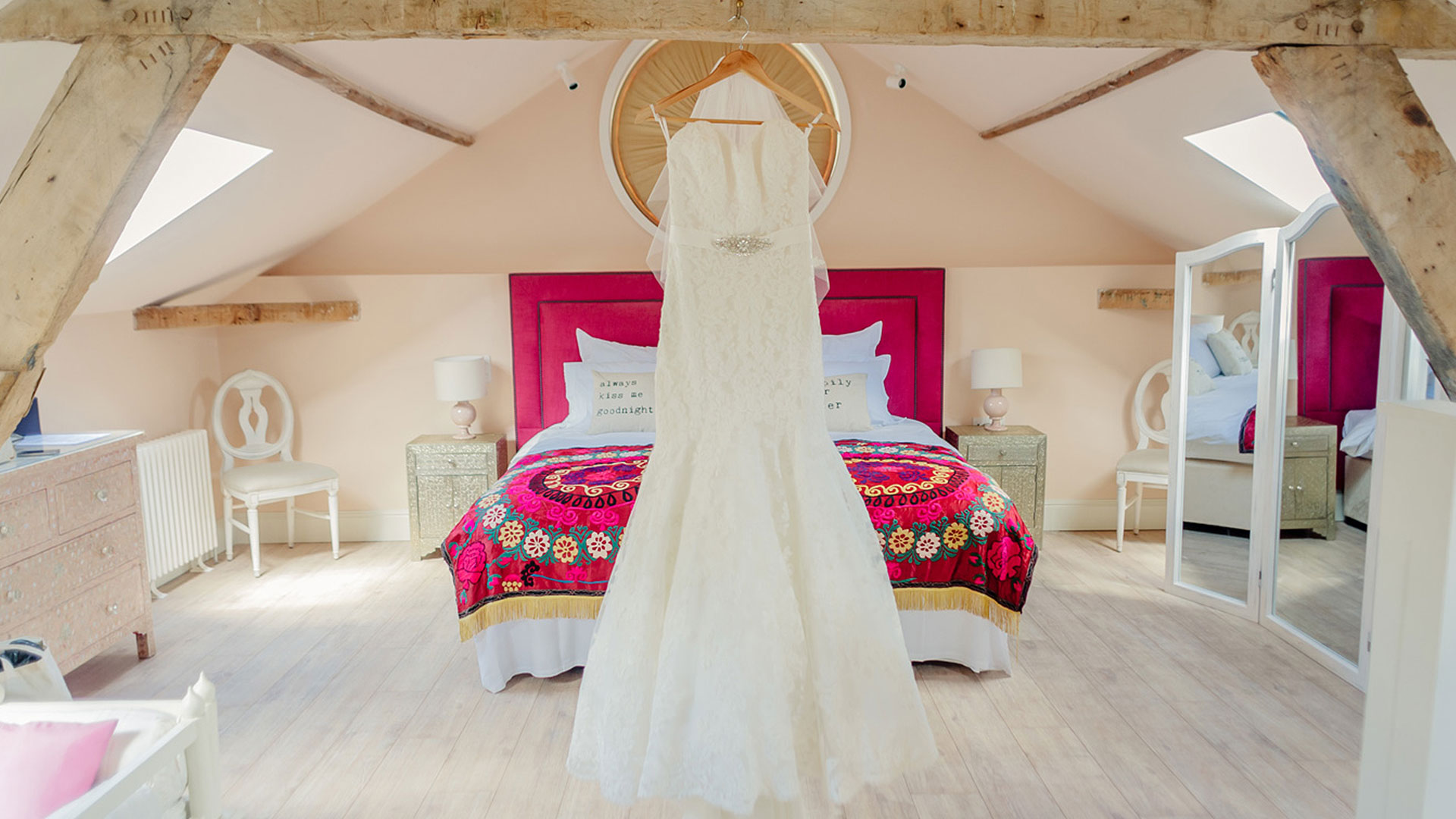 Bridal preparations can begin in the luxurious space available in the Coach House