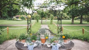 These beautiful gardens provide a unique space to host an outdoor wedding