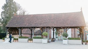 The beautiful open-sided barn is licensed for civil ceremonies - outdoor wedding venues in Essex