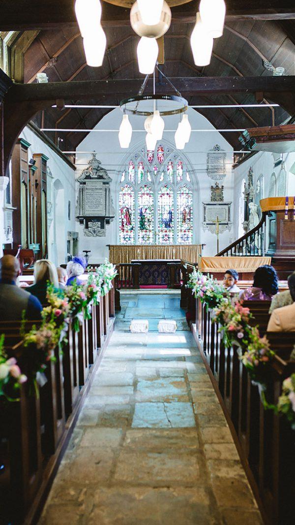 The wedding aisle at All Saints Church - wedding venues in Essex