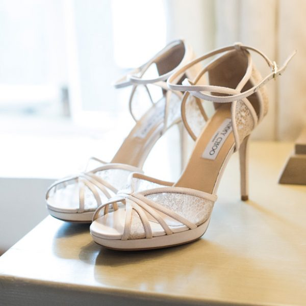 Jimmy Choo wedding shoes for bride