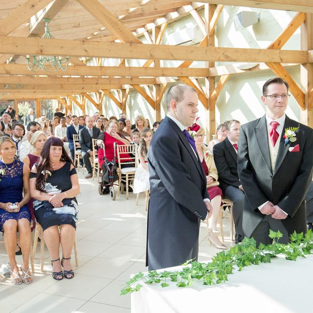 Guy and Marks wedding day Gaynes Park