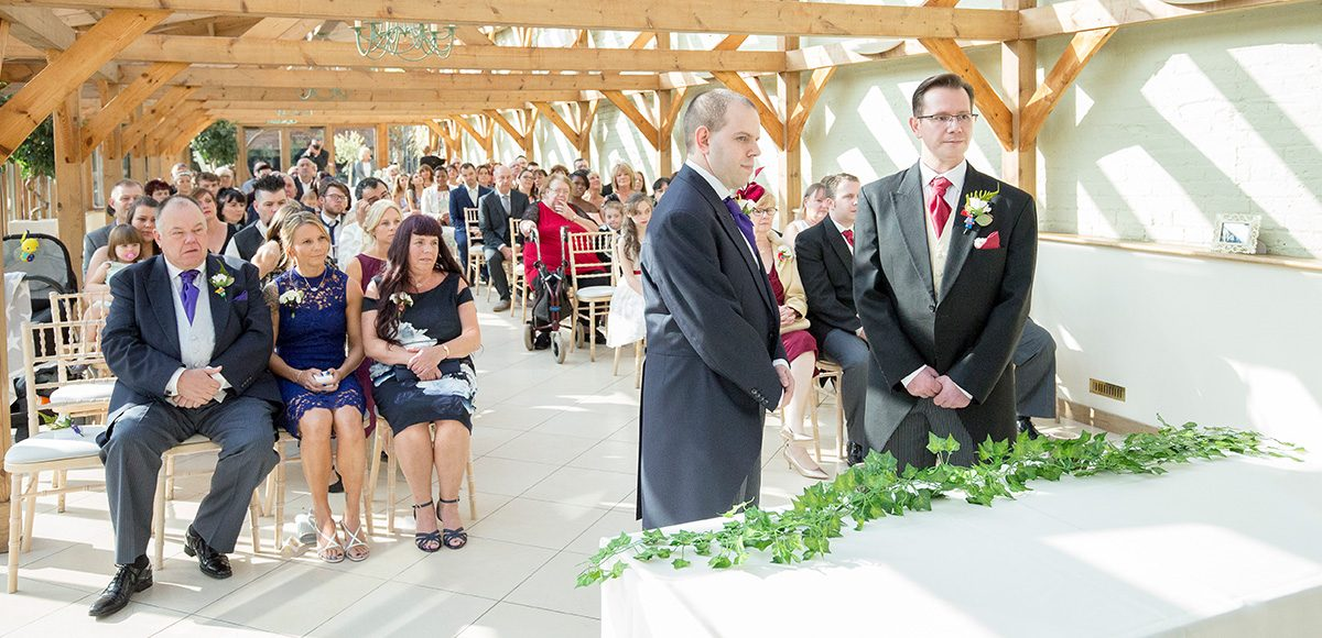 Guy and Mark exchange wedding vows in a beautiful wedding ceremony
