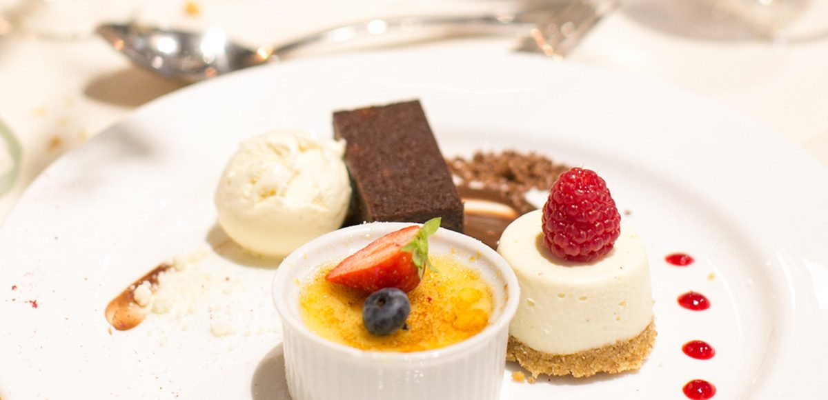 For a tasty end to the wedding breakfast at Gaynes Park treat your guests to a delicious trio of desserts