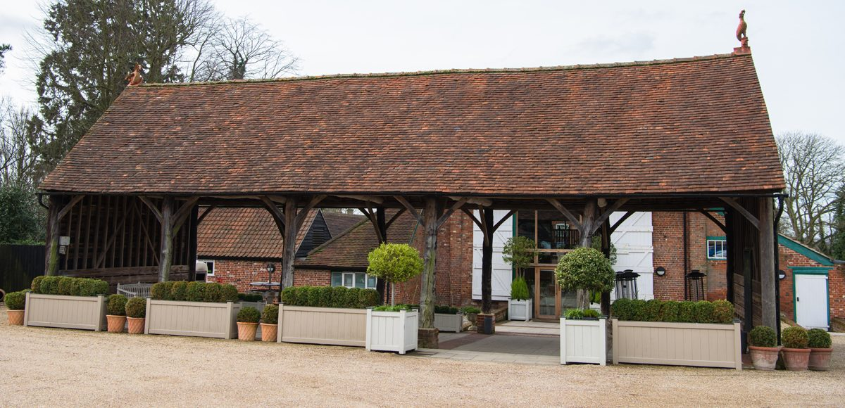 For a rustic wedding the Gather Barn at Gaynes Park is the ideal choice