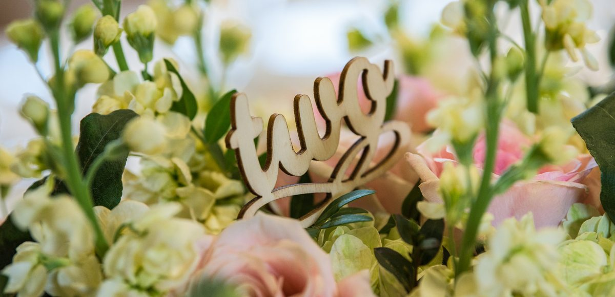 Wooden table numbers were the ideal addition to this rustic wedding at Gaynes Park