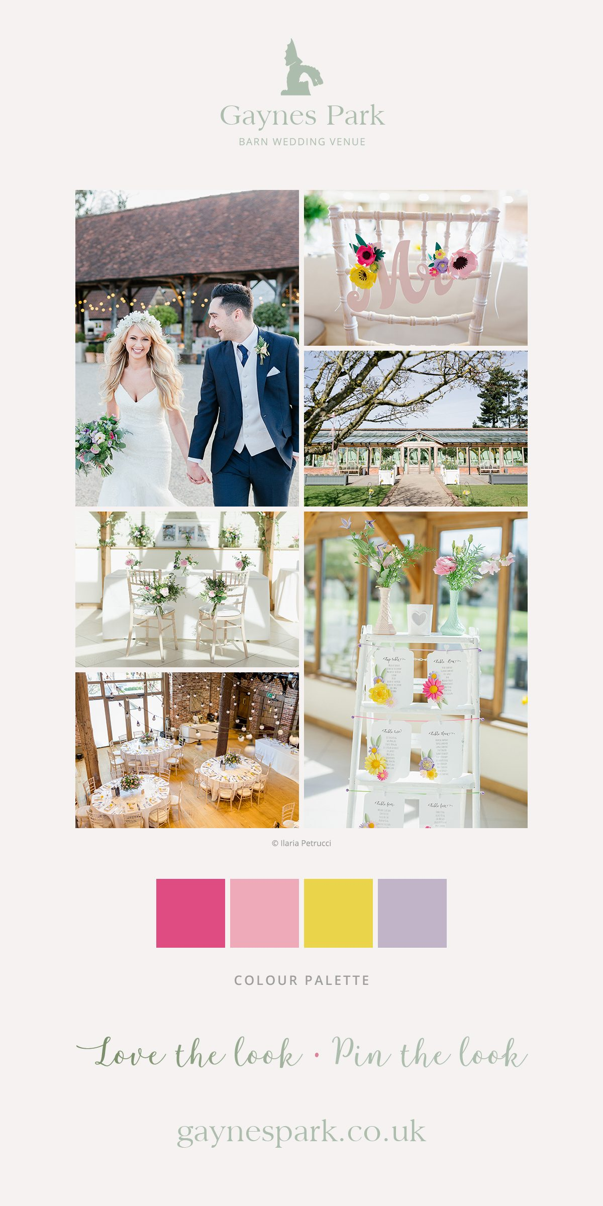 Emily and Tom's real life wedding at Gaynes Park in Essex