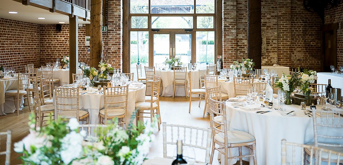 The Mill Barn at Gaynes Park is the perfect location for a vintage wedding reception