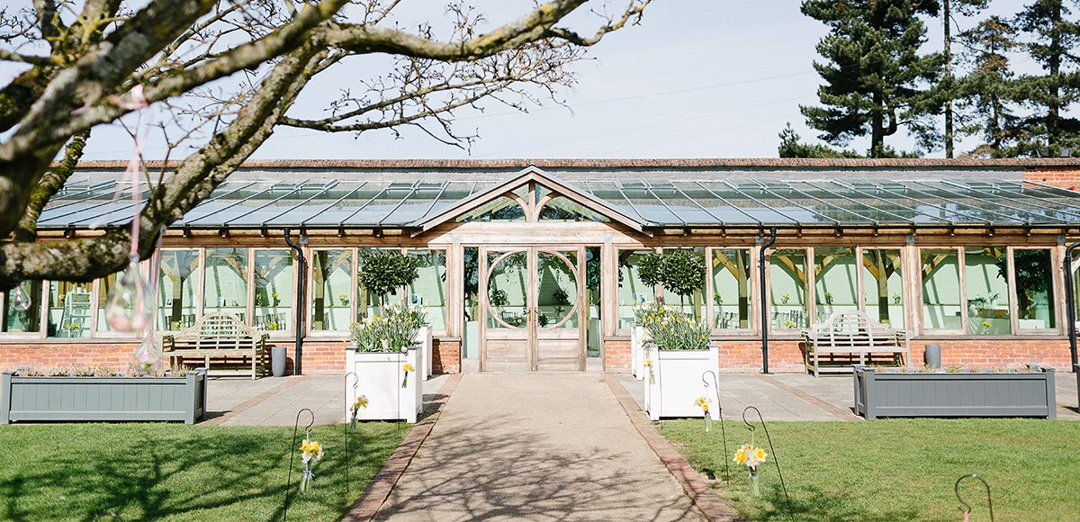 The Orangery at Gaynes Park in Essex is the perfect setting this spring wedding ceremony
