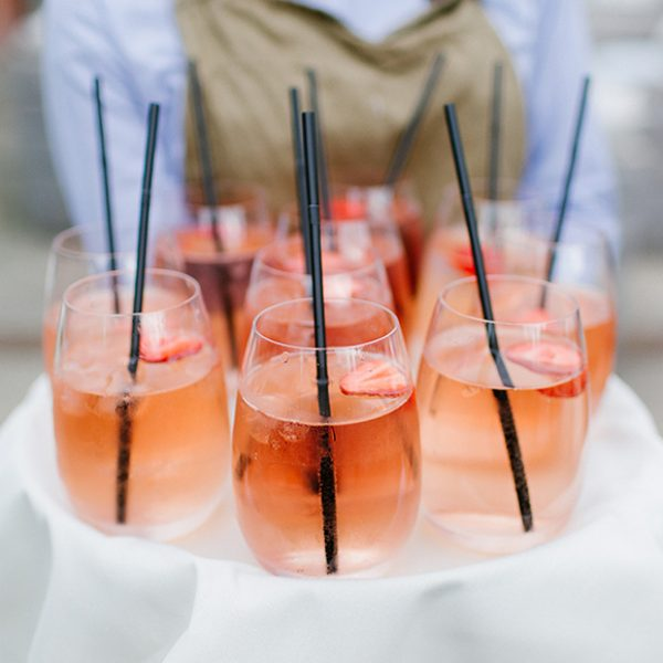 Sangria flora were served at the wedding drinks reception at this autumn wedding at Gaynes Park