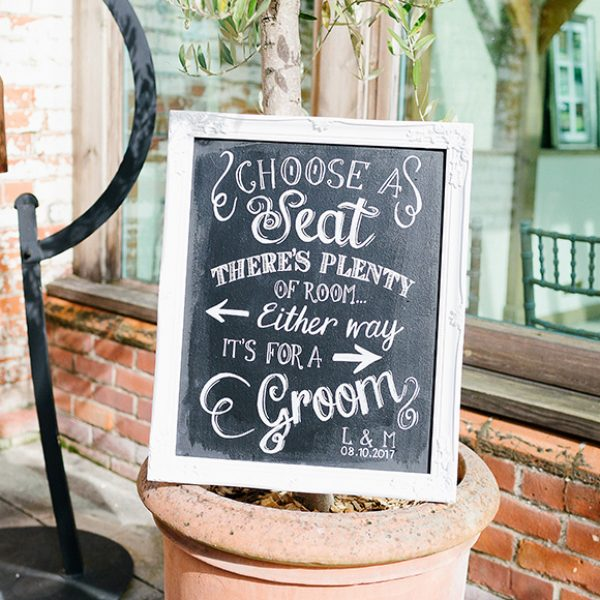 Wedding signage can add to a perfect vintage wedding look – wedding ideas