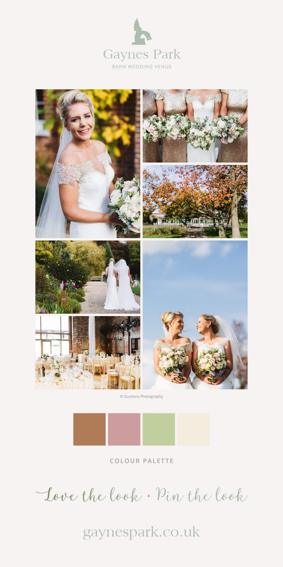 Sophie and Beth's real life wedding at Gaynes Park