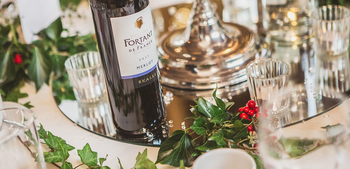 Add holly to any winter wedding at Gaynes Park for a festive touch