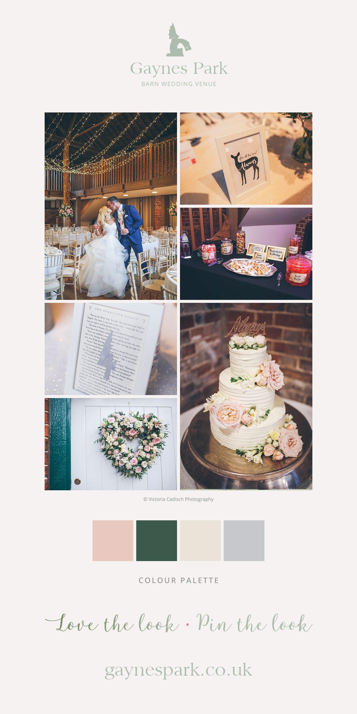 Charlotte and James' real life wedding at Gaynes Park