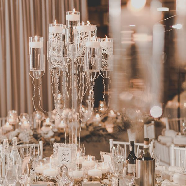 Ice white and silver were the perfect colour scheme for this winter wedding at Gaynes Park
