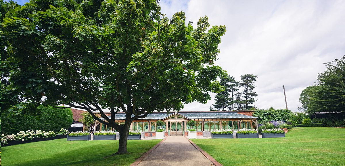 The Orangery at Gaynes Park in Essex is surrounded by beautiful gardens making it the perfect spot for your wedding ceremony