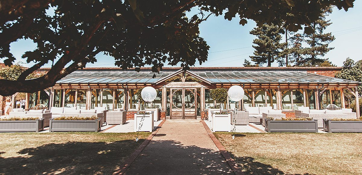 The Orangery at Gaynes Park is the perfect spot for a summer wedding ceremony